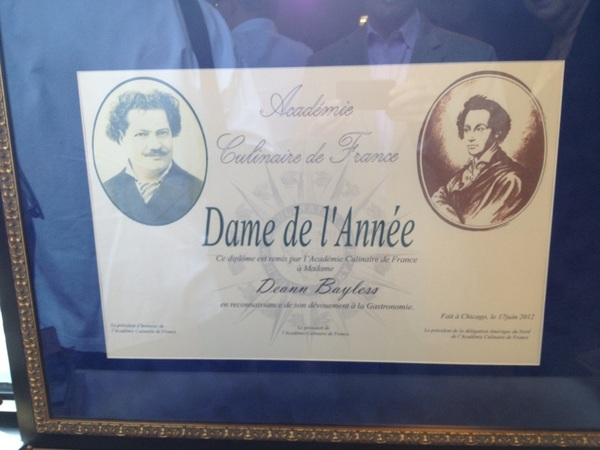 Wonderful, very French meeting of Academie Culinaire de France:my wife was awarded Dame de l'Année 4 role n Chgo restos