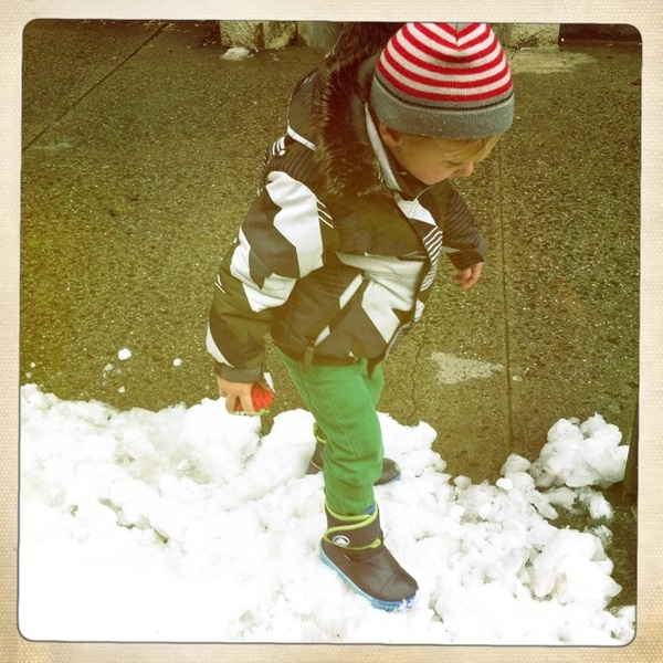 Fletcher of the day: Snow!