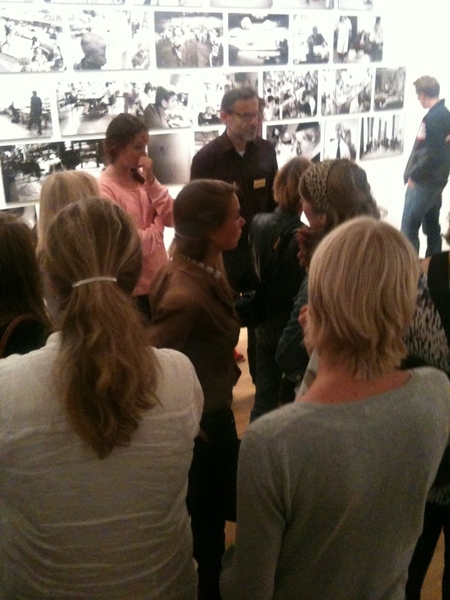 Hans Aarsman giving an exclusive tour of the exhibition #Coup