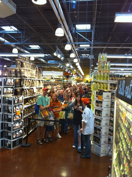 Yea, Schaumburg Whole Foods! Huge line of folks braved the storms to come to my signing