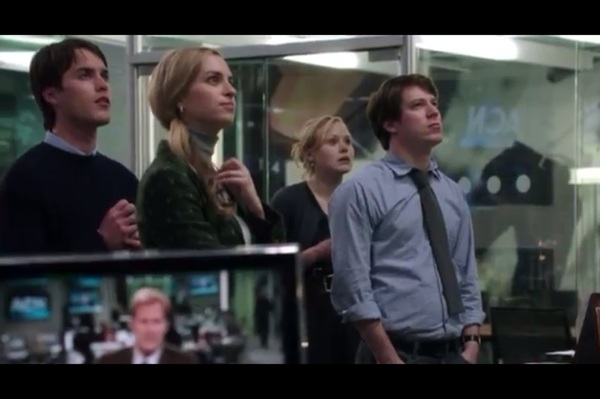 "HBO releases 2nd ""Newsroom"" trailer http://bit.ly/II1HXS That's my ex-assistant, new actress Margaret Judson 2nd from L"