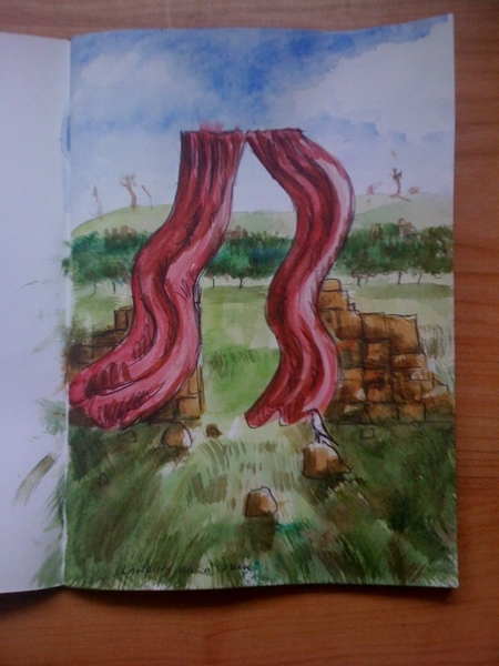 """unreality as a ruin"" watercolour 29 may '09"