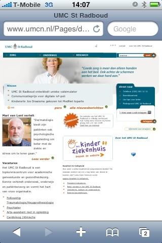@ictzorgen hmm dit is wat ik zie op www.UMCN.nl