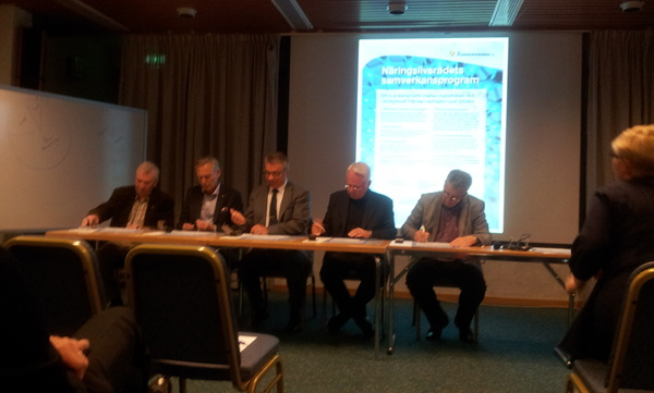 Undertecknande av näringslivsrådets samverkansprogram