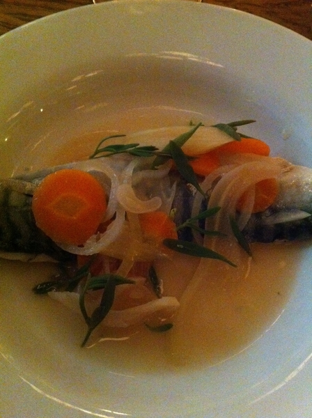 Hix Farm/Sea-to-Table Resto: impeccable seafood offerings: super-fresh mackerel v gently cooked in souse (escabeche)