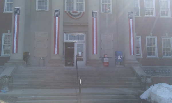 Meadville, PA: At the courthouse paying taxes and getting dog licenses.  http://is.gd/adIlw