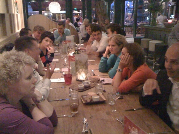 Wonderful closing meeting incl dinner w/ Ahold Young Mngrs