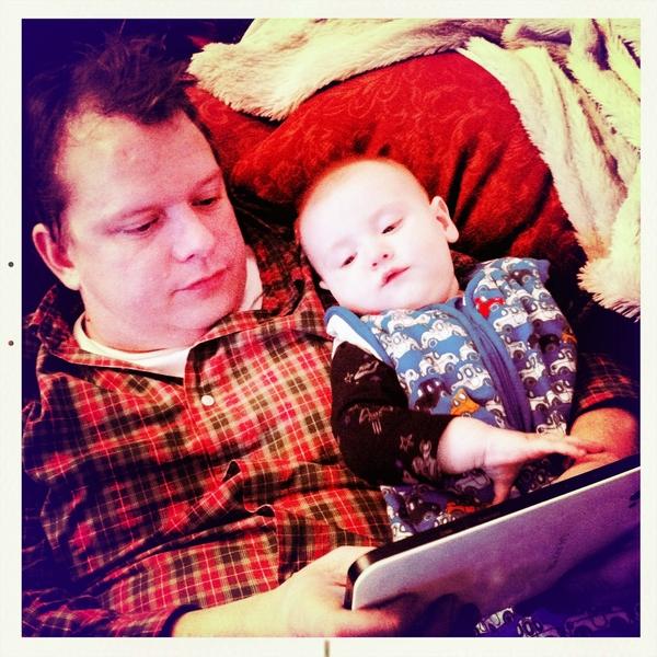 My boys @Dutchcowboy and @Fletcherlens checking out the Samsung galaxy tablet