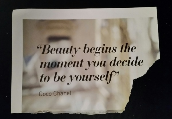 Handy. Especially if Chanel is out of reach & botox & silicone ain't your thing...