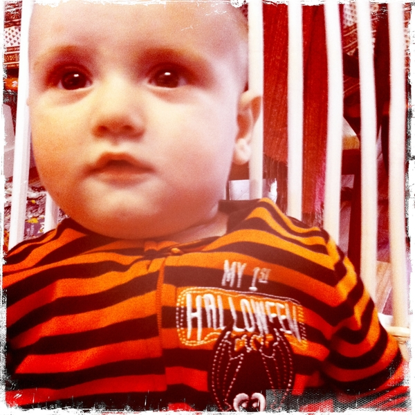 Fletcher of the day: my first Halloween.