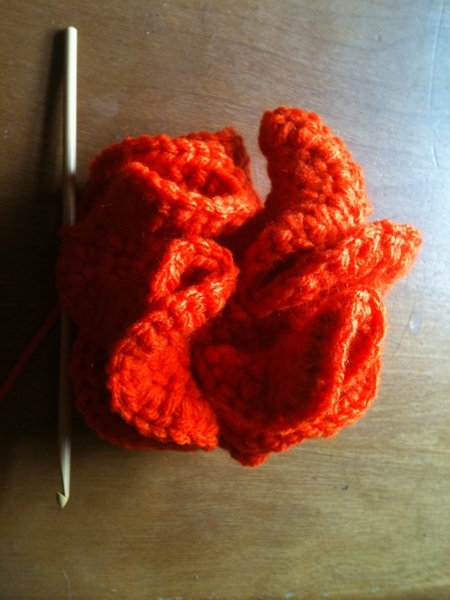 Coral reef crochet. From simple instructions arise complexity in shape.