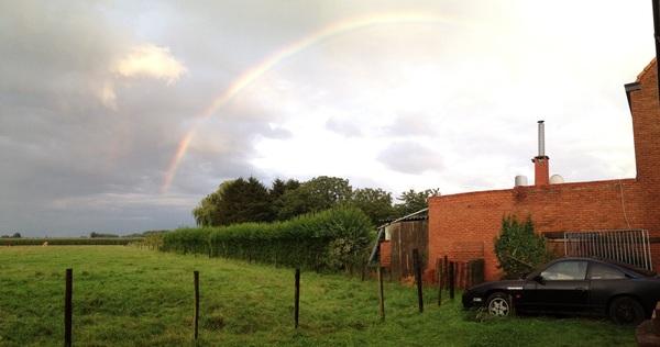 Regenboog in Waasland #buienradar