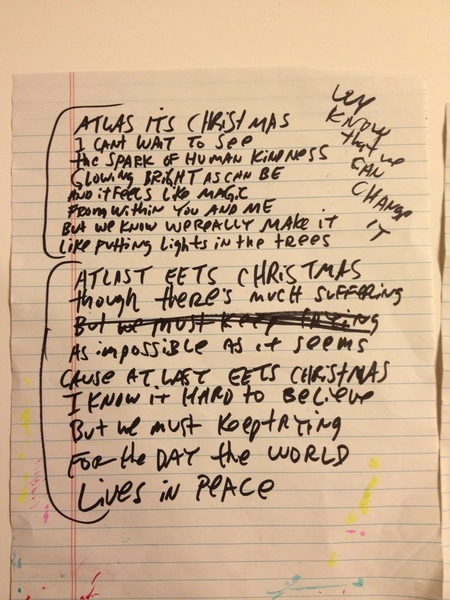 Lyric sheets for Atlas Eets Christmas and The Brain of Heaven..