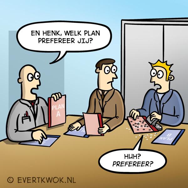 En Henk, welk plan prefereer jij? #cartoon