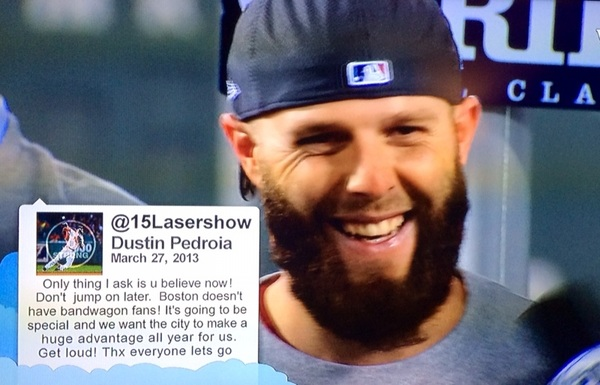 Social media history by @15Lasershow of 2013 World Series Champions Boston @RedSox. #BostonStrong