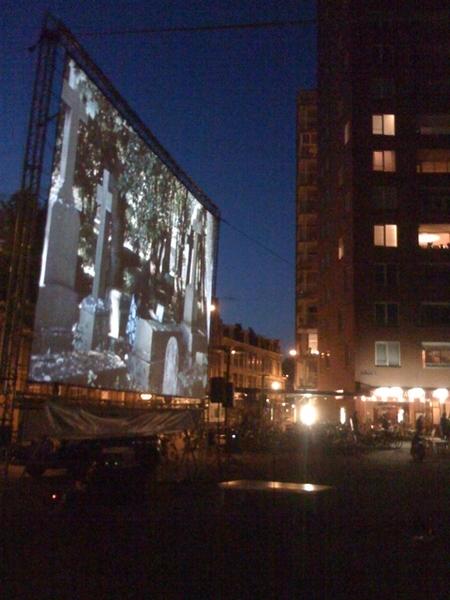 Outdoor cinema on Heineken Square