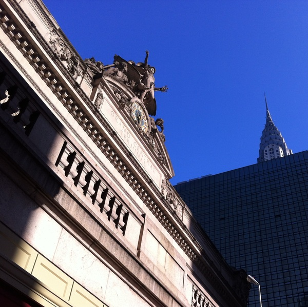 Grand Central and the top of the Chrysler Building
