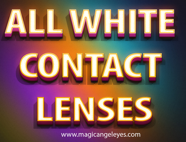 All white contact lenses