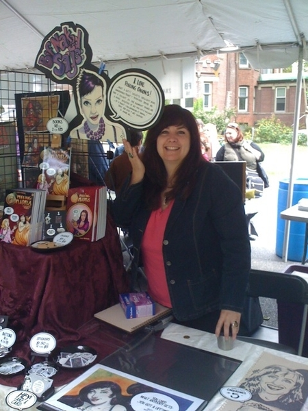 Me and my booth at Word on the Street. Today 11 - 6 at Queen's Park. #WOTS