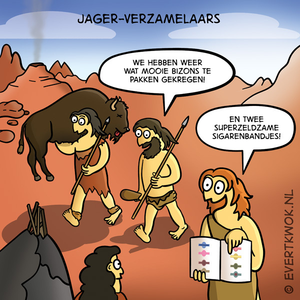 Jager verzamelaars #cartoon