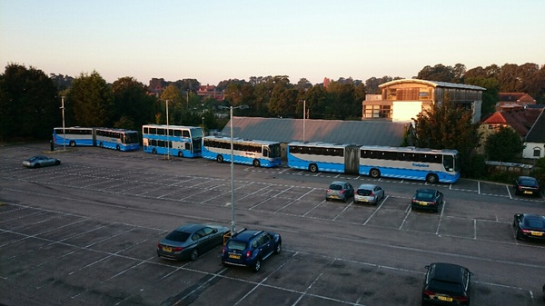 Rail replacement buses on standby at #Stowmarket. Not needed this time, but good that they're there.