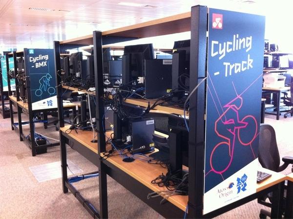 Visiting @London2012 tech integration Lab! w/ @callmetbone #awesome