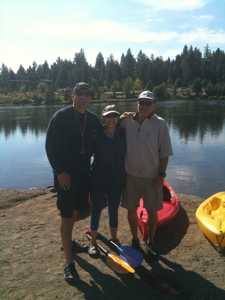 My 71-year young Mom, Dad and I kayaked the Deschuttes river today! #Bend #coach