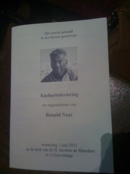 Impressive memorial service, goodbye Ronald N