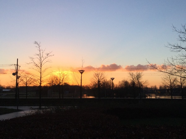 Zonsopkomst in Ypenburg, Den Haag #buienradar