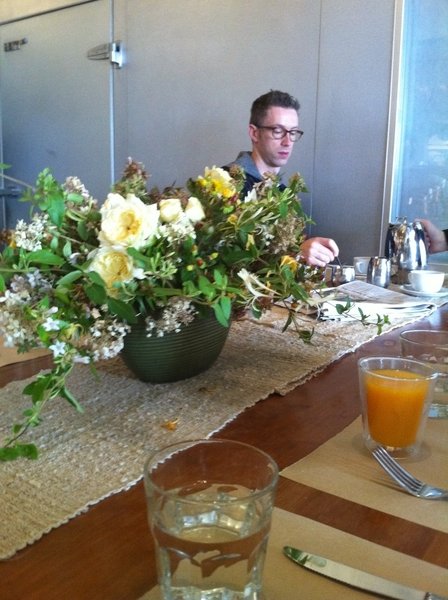 Breakfast at Boulettes Larder in Ferry Plaza. Like being in one of the best chef's kitchens, at a gorgeous table!