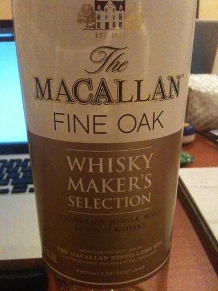 Macallan fine oak, thank you for the joy