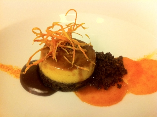Possible new dessert for Topolo from Jen Jones: Chocoflan with candied&crispy sw potato, caramel choc pool