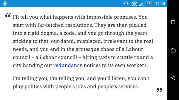Kinnock was right in 1985. It would be a shame if Labour had to relearn the same painful lesson.