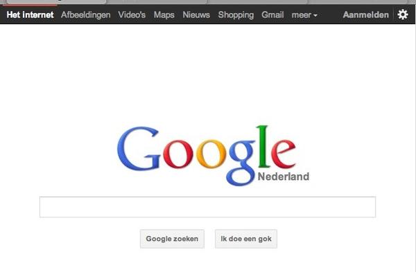 Nieuwe homepage Google. Impressive.
