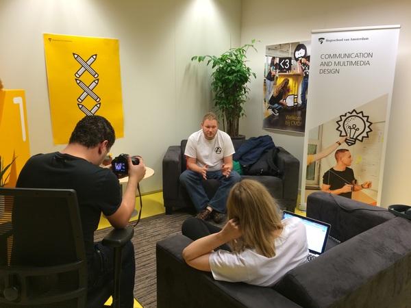 Interview in progress.. @amal visits #cmda #hva