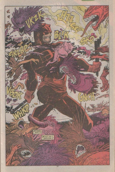 Daredevil fights Demons. I told u there were DEMONS on EARTH!