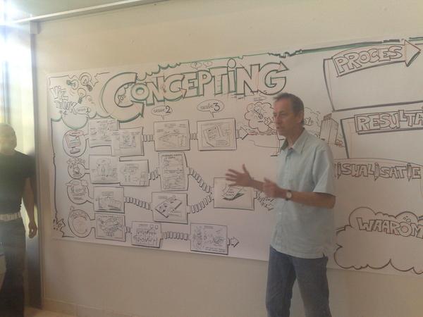 Harry vertelt: bij concepting en visueel denken is 'de vage schets' belangrijk. #viz4