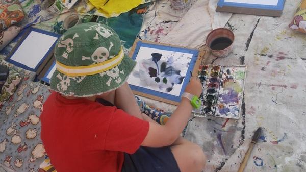 #kids #create #art #taos #nm #watercolor #harwoodmuseum #farmersmarket #latergram