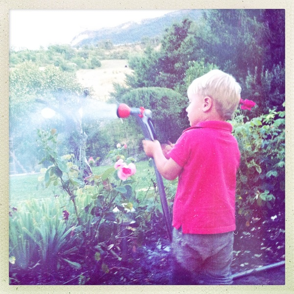 Fletcher of the day: Watering the plants