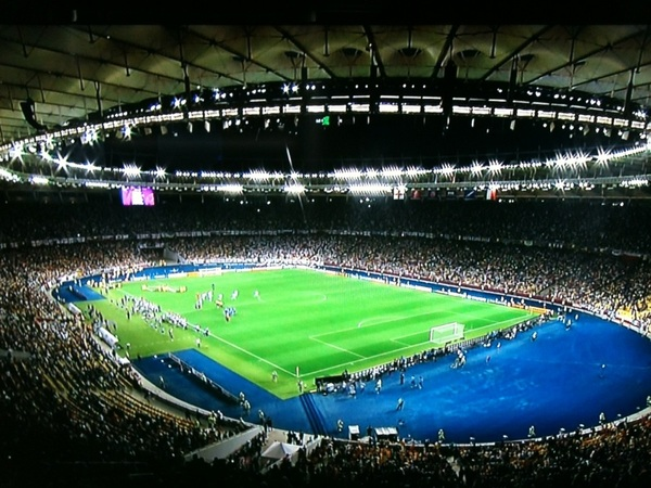 The Stadium in Kiev, Ukraine has a Sports Techie look and feel to it. #Euro2012