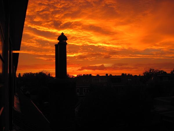 zonsondergang Hilversum 7 sept #buienradar