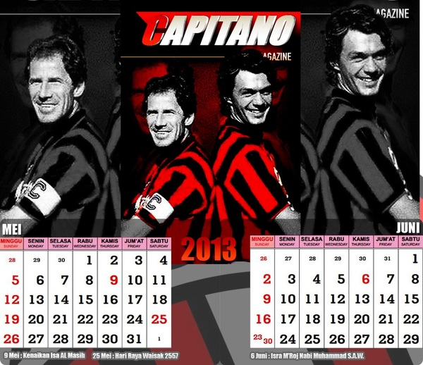 kalender bulan Mei dan Juni 2013 ;)