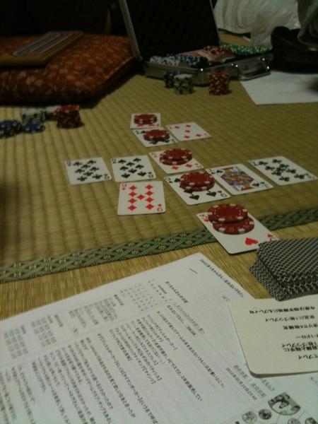 タイマンポーカーを遊んでいます。