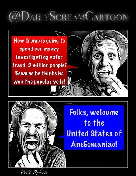Now #Amegalomaniac is going to spend our money investigating #Amegalomaniac 3 million people? Because he thinks he won the popular vote! Folks, welcome to the  United States of AneEomaniac!  #AlternativeFacts #womensmarch #buildbridges #strongwomen #riseup #women #chicas #chica #girl  #woman #risas #meme #memes #chiste  #humorsi #training #fitness #fitnessmodel  #Follow #politics #Obama