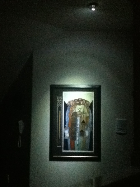 My dad is so extra.. He just put this spotlight up over one of his AφA pictures.. Gotta love him.. Smh☺