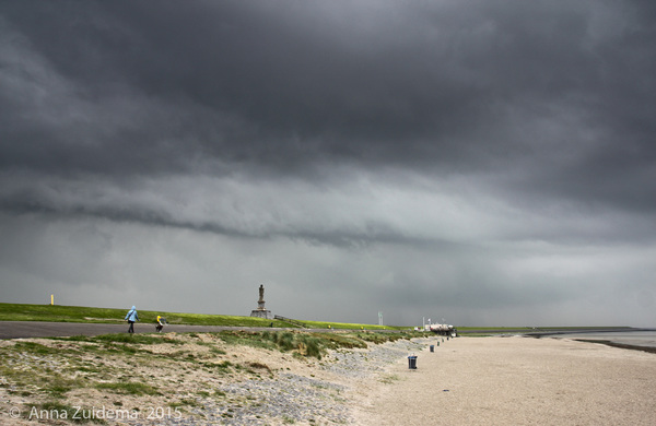 Buienlijntje Harlingen met hagel en onweer! #buienradar