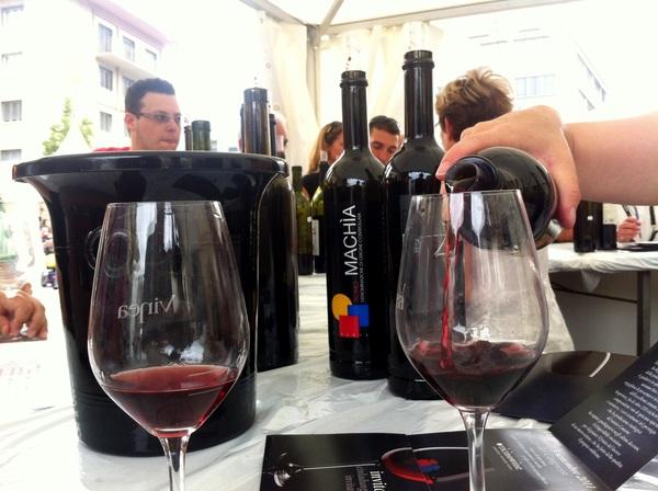 Op Vinea wijn 'proeven' en damn, wat een lekker weertje zeg.