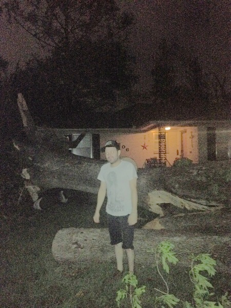 Checking out the devastation!!! Norman after the tornado