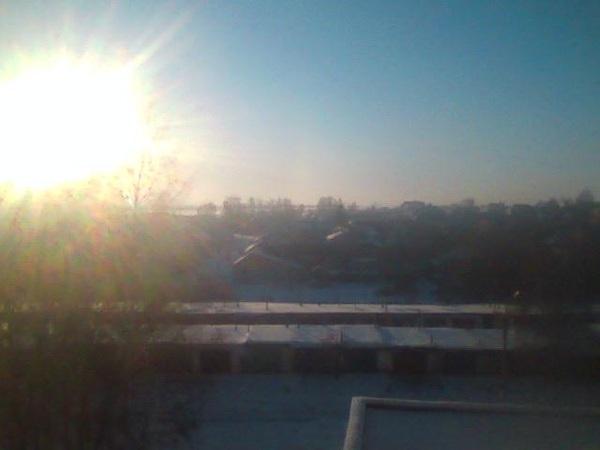 утро. Какая прелесть за окном!