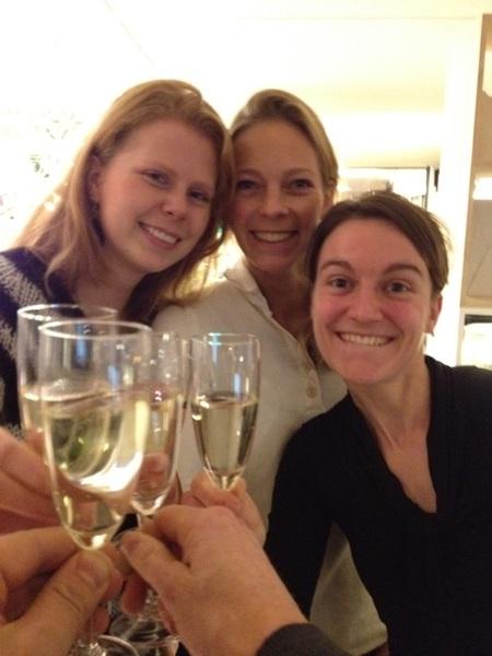 Champagne momentje @flindersdesign!